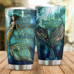 Personalized Charming Mermaid She Dreams Of The Ocean Stainless Steel Tumbler Perfect Gifts For Mermaid Lover Tumbler Cups For Coffee/Tea, Great Customized Gifts For Birthday Christmas Thanksgiving