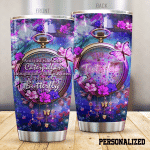 Personalized Purple Butterflies Clock It Became A Butterfly Stainless Steel Tumbler Perfect Gifts For Butterfly Lover Tumbler Cups For Coffee/Tea, Great Customized Gifts For Birthday Christmas Thanksgiving