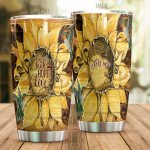 Personalized Sunflower Hummingbird Faith Hope Love Stainless Steel Tumbler Perfect Gifts For Sunflower Lover Tumbler Cups For Coffee/Tea, Great Customized Gifts For Birthday Christmas Thanksgiving