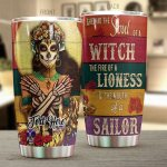 Personalized Skull Lady Santa Muerte Soul Of A Witch Stainless Steel Tumbler Perfect Gifts For Skull Lover Tumbler Cups For Coffee/Tea, Great Customized Gifts For Birthday Christmas Thanksgiving