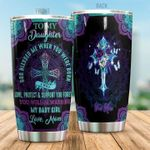 Personalized God To My Daughter From Mom God Blessed Me When You Were Born Stainless Steel Tumbler Perfect Gifts For God Lover Tumbler Cups For Coffee/Tea, Great Customized Gifts For Birthday Christmas Thanksgiving