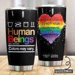 Personalized LGBT Colors May Wary Stainless Steel Tumbler Perfect Gifts For LGBT Lover Tumbler Cups For Coffee/Tea, Great Customized Gifts For Birthday Christmas Thanksgiving