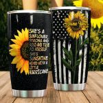 Personalized Sunflower Sunshine Mixed With A Little Hurricane Stainless Steel Tumbler Perfect Gifts For Sunflower Lover Tumbler Cups For Coffee/Tea, Great Customized Gifts For Birthday Christmas Thanksgiving