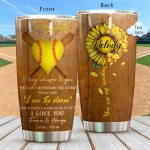 Softball Personalized Tumbler I Love You LF9