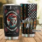 Personalized Native American Feather No One Is Illegal Stainless Steel Tumbler Perfect Gifts For Native American Culture Lover Tumbler Cups For Coffee/Tea, Great Customized Gifts For Birthday Christmas Thanksgiving