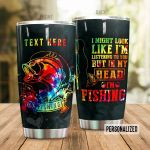 Personalized Colorful Fish Go Fishing Stainless Steel Tumbler Perfect Gifts For Fishing Lover Tumbler Cups For Coffee/Tea, Great Customized Gifts For Birthday Christmas Thanksgiving