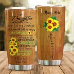 Personalized Sunflower Family To My Daughter From Mom You Are My Sunshine In A World Full Of Roses Stainless Steel Tumbler Perfect Gifts For Sunflower Lover Tumbler Cups For Coffee/Tea, Great Customized Gifts For Birthday Christmas Thanksgiving