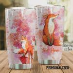 Personalized Fox Mandala Stainless Steel Tumbler, Tumbler Cups For Coffee/Tea, Great Customized Gifts For Birthday Christmas Thanksgiving