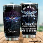 Personalized Mandala Dragonfly Sing Me A Song Stainless Steel Tumbler Tumbler Cups For Coffee/Tea Great Customized Gifts For Birthday Christmas Thanksgiving Awesome Gifts For Dragonfly Lovers