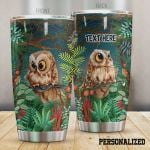 Personalized Owl In The Forest Stainless Steel Tumbler, Tumbler Cups For Coffee/Tea, Great Customized Gifts For Birthday Christmas Thanksgiving