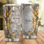 Personalized Golden Butterfly Beside Us Everyday Stainless Steel Tumbler Perfect Gifts For Butterfly Lover Tumbler Cups For Coffee/Tea, Great Customized Gifts For Birthday Christmas Thanksgiving