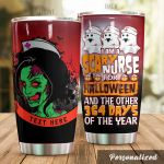 Personalized Halloween Nurse I Am A Scary Nurse Stainless Steel Tumbler Perfect Gifts For Nurse Tumbler Cups For Coffee/Tea, Great Customized Gifts For Birthday Christmas Thanksgiving Halloween