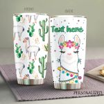Personalized Llama Cactus Stainless Steel Tumbler Perfect Gifts For Llama Tumbler Cups For Coffee/Tea, Great Customized Gifts For Birthday Christmas Thanksgiving