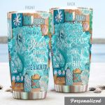 Personalized Beach I'm A Mermaid Stainless Steel Tumbler Perfect Gifts For Mermaid Lover Tumbler Cups For Coffee/Tea, Great Customized Gifts For Birthday Christmas Thanksgiving