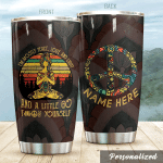 Personalized Hippie Yoga Peace Love And Light Stainless Steel Tumbler Perfect Gifts For Yoga Lover Tumbler Cups For Coffee/Tea, Great Customized Gifts For Birthday Christmas Thanksgiving