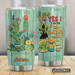 Personalized Yes I'm The Crazy Cactus Lady Stainless Steel Tumbler, Tumbler Cups For Coffee/Tea, Great Customized Gifts For Birthday Christmas Thanksgiving