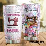 Personalized Sewing Floral Pattern You Can Buy Happiness Stainless Steel Tumbler Perfect Gifts For Sewing Lover Tumbler Cups For Coffee/Tea, Great Customized Gifts For Birthday Christmas Thanksgiving