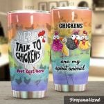 Personalized Chicken Yep I Talk To Chickens Stainless Steel Tumbler Perfect Gifts For Chicken Lover Tumbler Cups For Coffee/Tea, Great Customized Gifts For Birthday Christmas Thanksgiving
