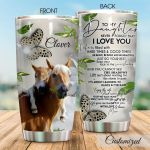 Personalized Horse To My Daughter From Mom You Cannot See The Shadows Stainless Steel Tumbler Tumbler Cups For Coffee/Tea Perfect Customized Gifts For Birthday Christmas Thanksgiving Awesome Gifts For Horse Lovers
