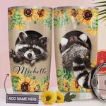 Personalized Raccoon In The Hole Stainless Steel Tumbler, Tumbler Cups For Coffee/Tea, Great Customized Gifts For Birthday Christmas Thanksgiving