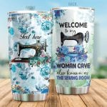 Personalized Sewing Machine Welcome To My Women Cave Stainless Steel Tumbler Perfect Gifts For Sewing Lover Tumbler Cups For Coffee/Tea, Great Customized Gifts For Birthday Christmas Thanksgiving