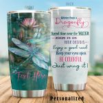 Personalized Lovely Dragonfly Spend Time Near The Water Stainless Steel Tumbler Perfect Gifts For Dragonfly Lover Tumbler Cups For Coffee/Tea, Great Customized Gifts For Birthday Christmas Thanksgiving
