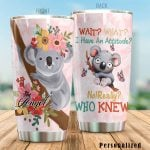 Personalized Cute Koalas I Have An Attitude Stainless Steel Tumbler Tumbler Cups For Coffee/Tea Perfect Customized Gifts For Birthday Christmas Thanksgiving Awesome Gifts For Koala Lovers