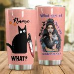 Personalized Cat What's Part Of Meows Don't You Understand Stainless Steel Tumbler Perfect Gifts For Cat Lover Tumbler Cups For Coffee/Tea, Great Customized Gifts For Birthday Christmas Thanksgiving