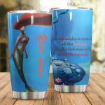 Personalized When Mermaids Sleep In Oceans Stainless Steel Tumbler Perfect Gifts For Mermaid Lover Tumbler Cups For Coffee/Tea, Great Customized Gifts For Birthday Christmas Thanksgiving