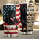 Personalized Pug Dog American Flag I Am Your Friend Stainless Steel Tumbler Perfect Gifts For Pug Dog Lover Tumbler Cups For Coffee/Tea, Great Customized Gifts For Birthday Christmas Thanksgiving