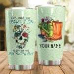Personalized Garden And Skull To Lose My Mind And Find My Soul Stainless Steel Tumbler Perfect Gifts For Garden Lover Tumbler Cups For Coffee/Tea, Great Customized Gifts For Birthday Christmas Thanksgiving