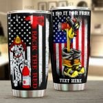 Personalized Firefighter Dalmatian Dog Back the Red Stainless Steel Tumbler Perfect Gifts For Firefighter Tumbler Cups For Coffee/Tea, Great Customized Gifts For Birthday Christmas Thanksgiving