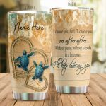 Personalized Turtle Couple I'll Keep Choosing You Stainless Steel Tumbler Perfect Gifts For Turtle Lover Tumbler Cups For Coffee/Tea, Great Customized Gifts For Birthday Christmas Thanksgiving