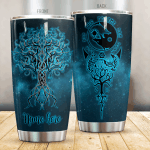 Personalized Viking Tree Of Life Stainless Steel Tumbler Perfect Gifts For Viking Lover Tumbler Cups For Coffee/Tea, Great Customized Gifts For Birthday Christmas Thanksgiving