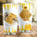 Personalized Honeycomb Sweetness To The Soul Stainless Steel Tumbler Perfect Gifts For Bee Lover Tumbler Cups For Coffee/Tea, Great Customized Gifts For Birthday Christmas Thanksgiving