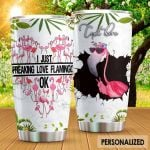 Personalized Tropical Flamingo Lover I Just Freaking Love Flamingo Stainless Steel Tumbler Perfect Gifts For Flamingo Lover Tumbler Cups For Coffee/Tea, Great Customized Gifts For Birthday Christmas Thanksgiving