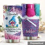 Personalized Crochet Gnom My Favorite Hobby Is Collecting Yarn Stainless Steel Tumbler Perfect Gifts For Crochet Lover Tumbler Cups For Coffee/Tea, Great Customized Gifts For Birthday Christmas Thanksgiving