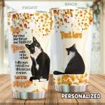 Personalized Tuxedo Cat I Am Your Friend Stainless Steel Tumbler Perfect Gifts For Cat Lover Tumbler Cups For Coffee/Tea, Great Customized Gifts For Birthday Christmas Thanksgiving