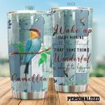 Personalized Hummingbird Something Wonderful Is About To Happen Stainless Steel Tumbler Perfect Gifts For Hummingbird Lover Tumbler Cups For Coffee/Tea, Great Customized Gifts For Birthday Christmas Thanksgiving