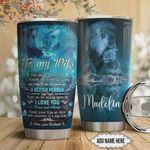 Personalized Lion To My Wife From Husband I Love You Forever And Always Stainless Steel Tumbler, Tumbler Cups For Coffee/Tea, Great Customized Gifts For Birthday Christmas Thanksgiving