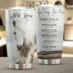Personalized Horse God Says You Are Precious Stainless Steel Tumbler Tumbler Cups For Coffee/Tea Perfect Customized Gifts For Birthday Christmas Thanksgiving Awesome Gifts For Horse Lovers