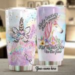 Personalized Unicorn She's Beauty Stainless Steel Tumbler Perfect Gifts For Unicorn Lover Tumbler Cups For Coffee/Tea, Great Customized Gifts For Birthday Christmas Thanksgiving