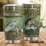Personalized Fishing Retirement Plan Stainless Steel Tumbler Perfect Gifts For Fishing Lover Tumbler Cups For Coffee/Tea, Great Customized Gifts For Birthday Christmas Thanksgiving