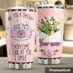 Personalized Are You A Camera Stainless Steel Tumbler Perfect Gifts For Camera Lover Tumbler Cups For Coffee/Tea, Great Customized Gifts For Birthday Christmas Thanksgiving