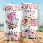 Personalized Baking Cupcakes Baked With Love Stainless Steel Tumbler Perfect Gifts For Baking Lover Tumbler Cups For Coffee/Tea, Great Customized Gifts For Birthday Christmas Thanksgiving