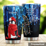 Personalized Penguin I'm A Little Penguin Black And White Stainless Steel Tumbler Perfect Gifts For Penguin Lover Tumbler Cups For Coffee/Tea, Great Customized Gifts For Birthday Christmas Thanksgiving