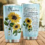 Personalized Sunflower Family To My Daughter From Mom Never Forget That My Treasure Is You Stainless Steel Tumbler Perfect Gifts For Sunflower Lover Tumbler Cups For Coffee/Tea, Great Customized Gifts For Birthday Christmas Thanksgiving