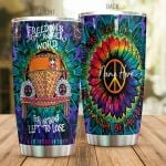 Personalized Hippie Van Freedom's Just Another World Stainless Steel Tumbler Perfect Gifts For Hippie Tumbler Cups For Coffee/Tea, Great Customized Gifts For Birthday Christmas Thanksgiving