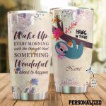 Personalized Wonderful Sloth Hang In There Stainless Steel Tumbler Perfect Gifts For Sloth Lover Tumbler Cups For Coffee/Tea, Great Customized Gifts For Birthday Christmas Thanksgiving