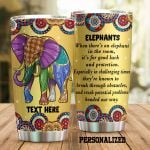 Personalized Elephant When There's An Elephant In The Room Stainless Steel Tumbler Perfect Gifts For Elephant Lover Tumbler Cups For Coffee/Tea, Great Customized Gifts For Birthday Christmas Thanksgiving